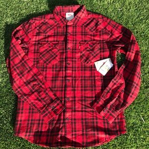 Levi flannel shirts brand new